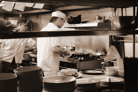 Busy Restaurant Kitchen fine busy restaurant kitchen at the michelin in decorating